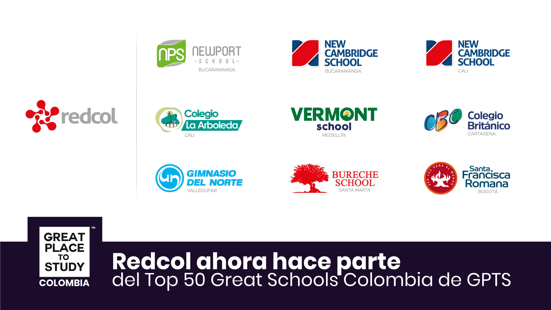 La red de colegios Redcol ahora es Great Place to Study ™